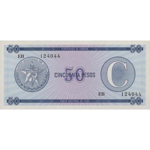 1985 - Cuba P-FX24 billete de 50 Pesos