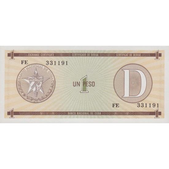1985 - Cuba P-FX-27 1 Peso banknote