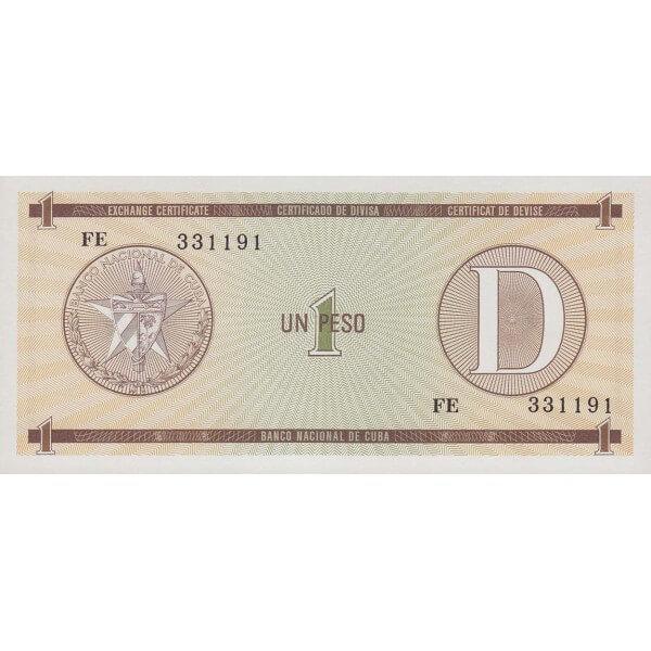 1985 - Cuba P-FX-27 billete de 1 Peso