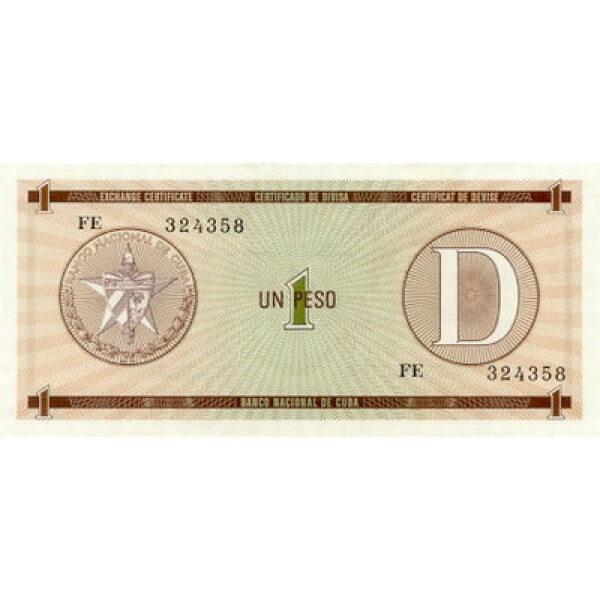 1985 - Cuba P-FX32 1 Peso banknote