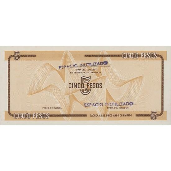1985 - Cuba P-FX34 5 Pesos banknote
