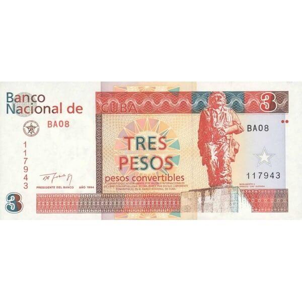 1994 - Cuba P-FX38 billete de 3 Pesos