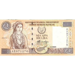 2004 - Cyprus Pic 60d 1 Pound Banknote