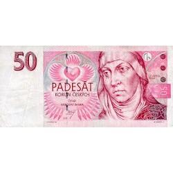 1997 - Czech Republic Pic 17     50 Korun  banknote