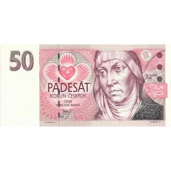 1993 - Czech Republic  Pic 4     50 Korun  banknote
