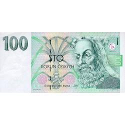 1997 - Czech Republic Pic 18     100 Korun  banknote