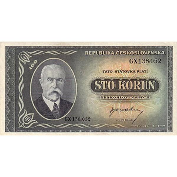 1945 -  Czechoslovakia Pic 63    100 Korun  banknote