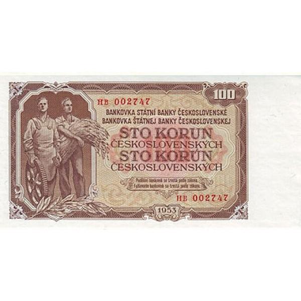 1953 -  Czechoslovakia Pic 86    100 Korun  banknote