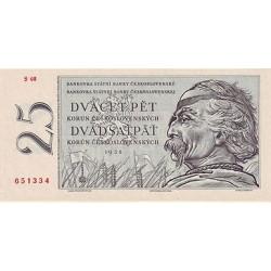 1958 -  Czechoslovakia Pic 87    25 Korun  banknote