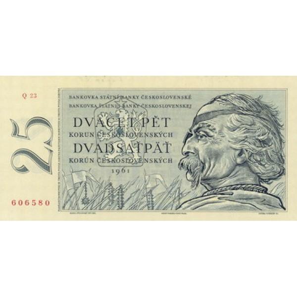 1961 -  Czechoslovakia Pic 89b           25 Korun banknote