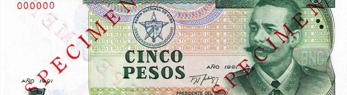 5 pesos banknote Cuba
