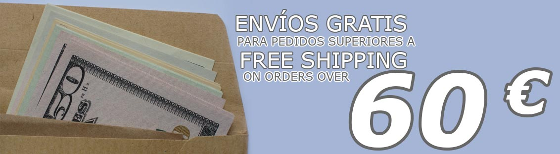 FREE Shipping on orders over 60 €
