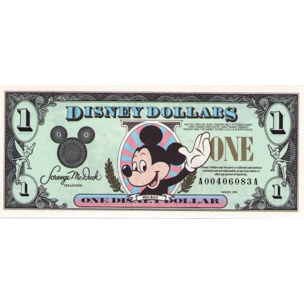 1994 - Disney Estados Unidos billete de 1 Dólar