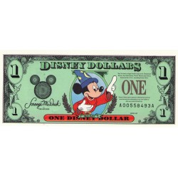 1997 - Disney  United States 1 Dollar banknote