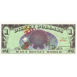 2000 - Disney  United States 1 Dollar banknote