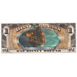 2011 - Disney United States 1 Dollar banknote Pirates Caribbean