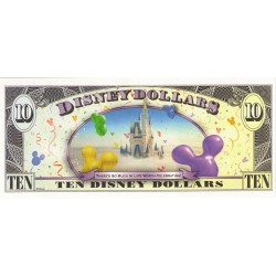 2009 - Disney  United States 10 Dollars banknote