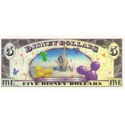 2009 - Disney  United States 5 Dollars banknote
