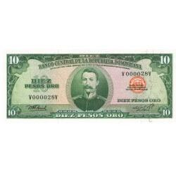 1976 - Dominican Republic P110 10 Pesos Oro banknote