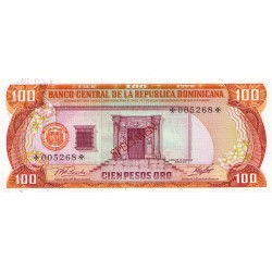 1978 - Dominican Republic P122cs4 100 Pesos Oro Specimen banknote