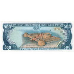 1978 - Dominican Republic P123s1 500 Pesos Oro Specimen banknote