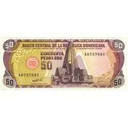 1990 - Dominican Republic P127 50 Pesos Oro banknote