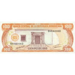 1990 - Dominican Republic P136 100 Pesos Oro banknote