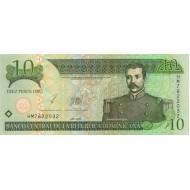2003 - Dominican Republic P168 10 Pesos Oro banknote