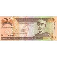 2003 - Dominican Republic P169c 20 Pesos Oro banknote