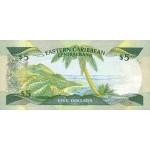 1986/88 - East Caribbean States  Pic18v 5 Dollars banknote