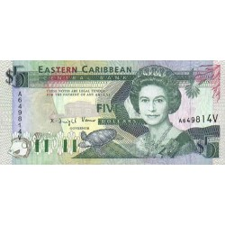 1993 - East Caribbean States  Pic 26a 5 Dollars banknote