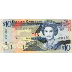 1994 - East Caribbean States  Pic 32k 10 Dollars banknote