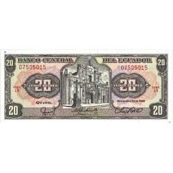 1986 - Ecuador P121Aa 20 Sucres banknote