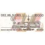 1994 - Ecuador P127a billete de 10.000 Sucres