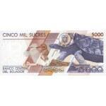 1999 - Ecuador P128c billete de 5.000 Sucres