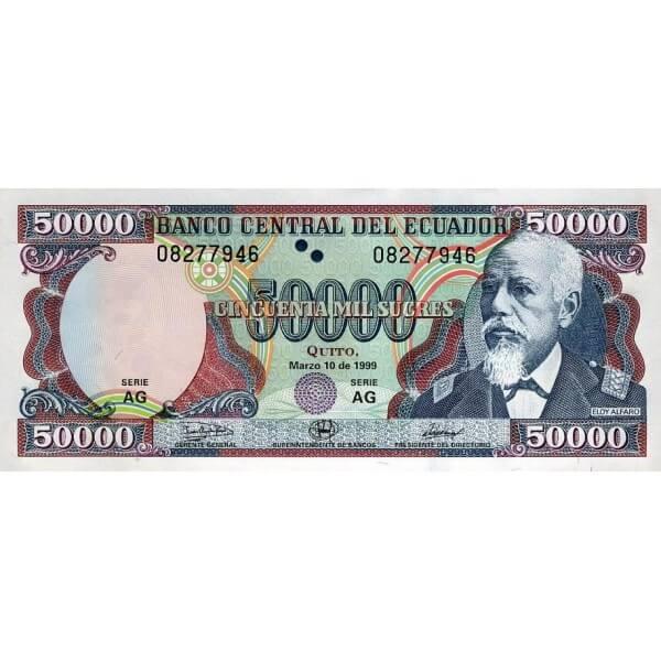 1999 - Ecuador P130c billete de 50.000 Sucres
