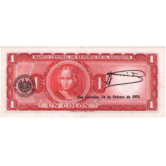 1972 - El Salvador P115 1 Colon Used banknote VF