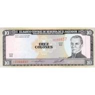 1996 - El Salvador P144 10 Colones banknote