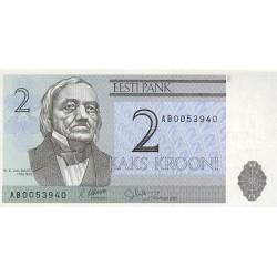 1992 -  Estonia Pic 70  2 Krooni  banknote