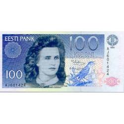 1992 -  Estonia Pic 74 b  100 Krooni  banknote