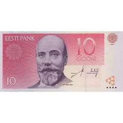 2007 - Estonia Pic 86b    10 Krooni  banknote