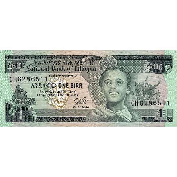 1976 - Ethiopia pic 30b billete  1 Birr