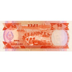 1986 - Fiji Islands P83a 5 Dollars banknote
