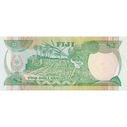 1988 - Fiji Islands P87a 2 Dollars banknote