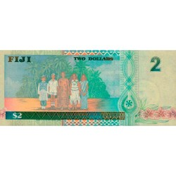 1996 - Fiji Islands P96b 2 Dollars banknote