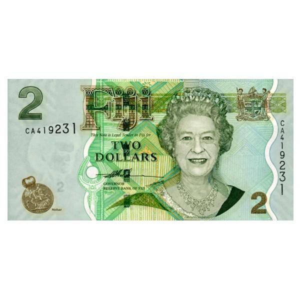 2007 - Islas Fiji P109a billete de 2 Dólares