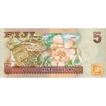 2007 - Islas Fiji P110a billete de 5 Dólares