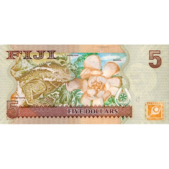 2007 - Fiji Islands Pic 110a 5 Dollars banknote