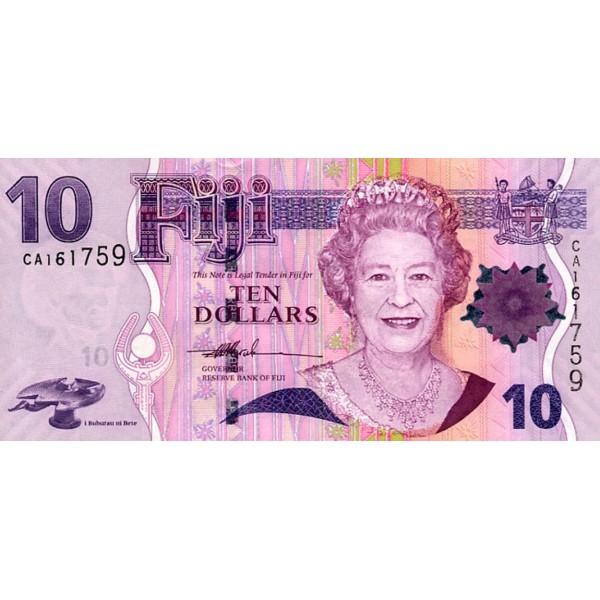 2007 - Islas Fiji P111a billete de  10 Dólares