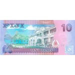 2013 - Islas Fiji P116a billete de  10 Dólares